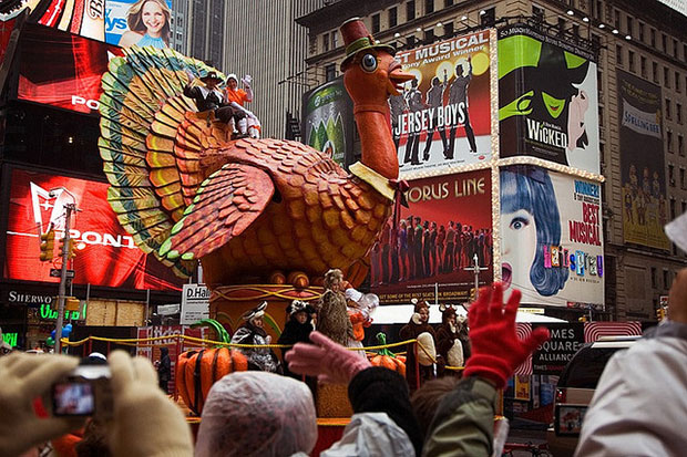 Fiesta de Thanksgiving en Año Escolar en EEUU