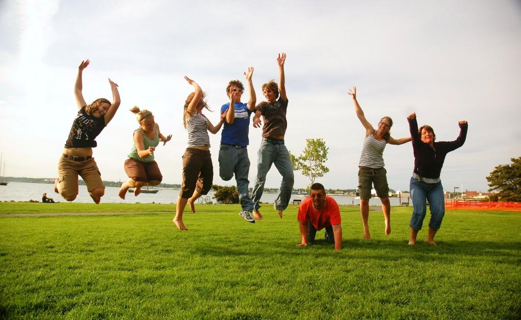 salto en grupo