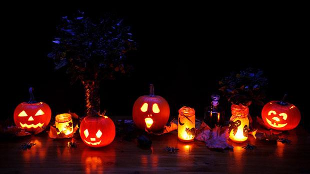 Fiesta de Halloween en Año Escolar en EEUU