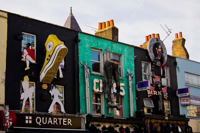 Fachadas icñonicas en Camden Town