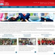 Nueva sección de cursos para colegios