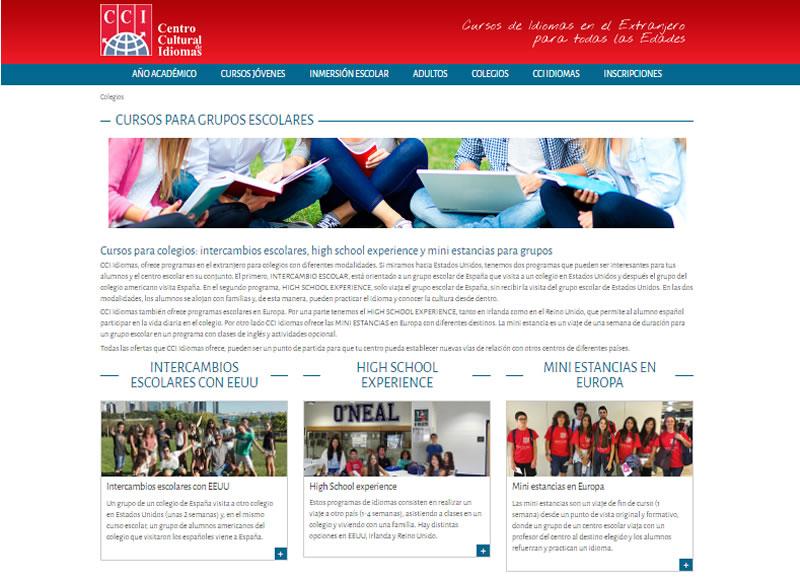 Sección de colegios de CCIdiomas