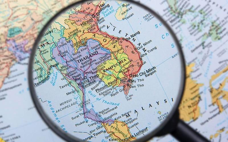 mapa para elegir curso de idiomas en el extranjero