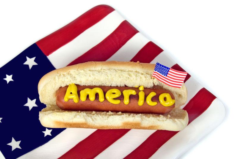 comida al estudiar en EEUU: hotdog