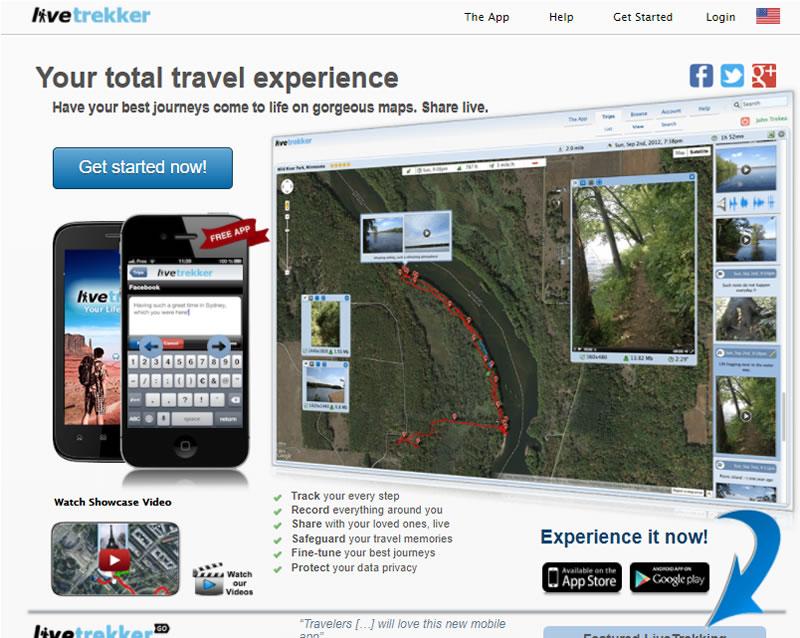 apps para viajes: Livetrecker
